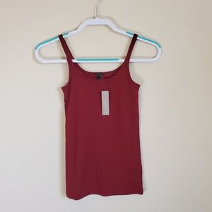 J Crew Burgundy Tank with Built in Bra XS
